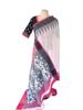 Linen saree fused with grey saree