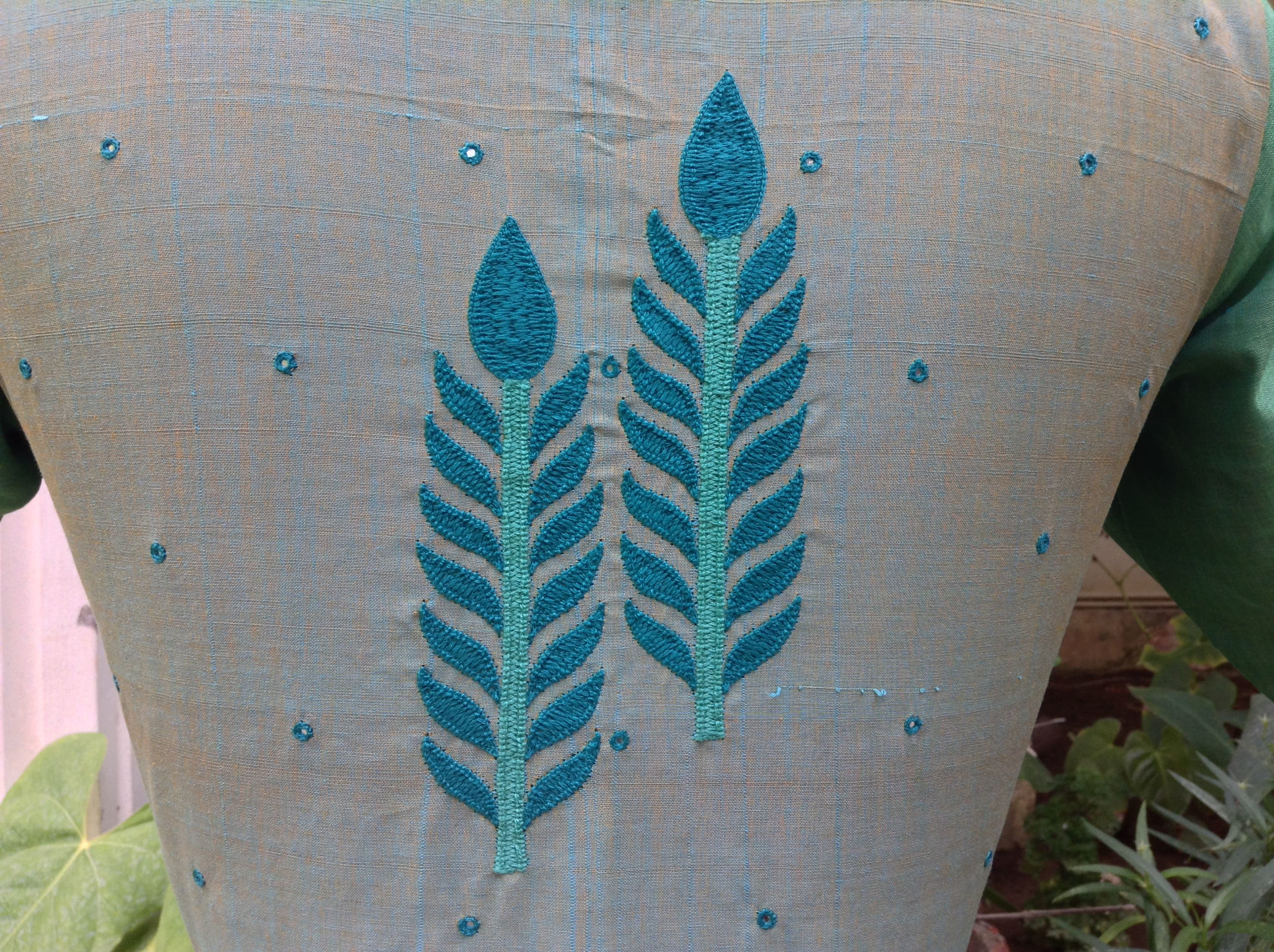 TURQUOISE AND LEAVES